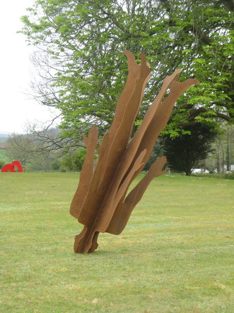 Abstract Figurative steel sculpture