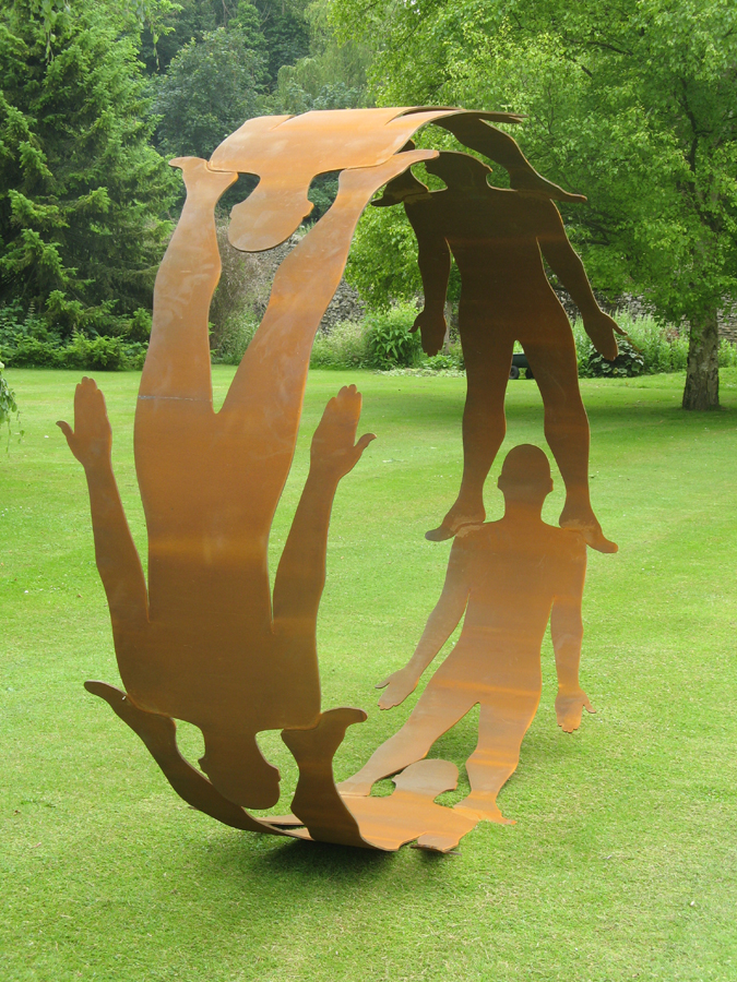 Abstract Figurative steel sculpture